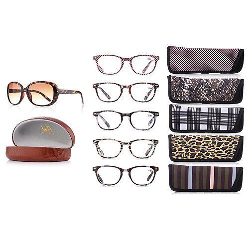 Via MILANO Lesebrillen-Set inkl. Sonnenbrille verschiedene Stärken Set, 6tlg