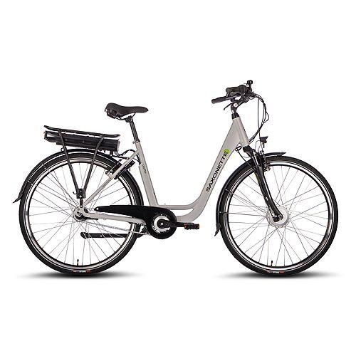 SAXONETTE 28'' E-Citybike Vorderradmotor bis zu 130km, 7 Gang Rücktrittbremse City Plus E-Bike