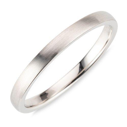 PLATINITY Ring poliert mattiert Platin 950