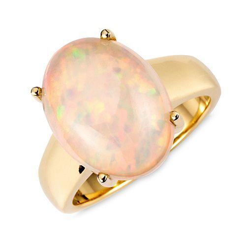 Afrikanischer Opal Ring ca. 5,50ct Oval 16x12mm Gold 585