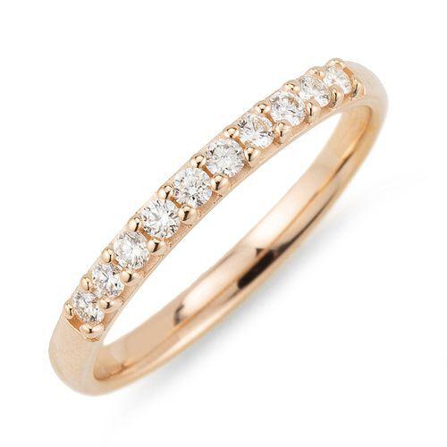 Ring 10 Brillanten zus. ca. 0,20ct get. Weiß/lupenrein Gold 375