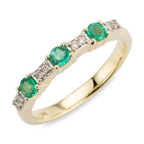 ROYELLE Ring Kolumbianischer Smaragd ca. 0,27ct Gold 585