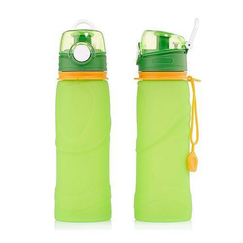 Sport-Trinkflaschen aus Silikon faltbar 750ml 2 Stück