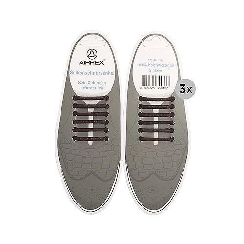 ONE TOUCH Schnürsenkel aus Silikon für Lederschuhe 3 Paar