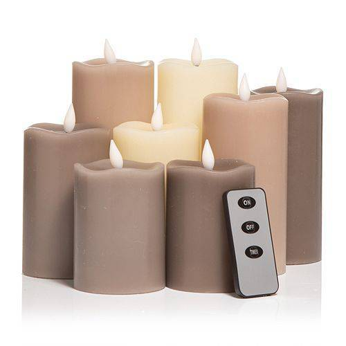 B-Ware ELAMBIA 8 LED-Kerzen Farbmix Flamme Luma