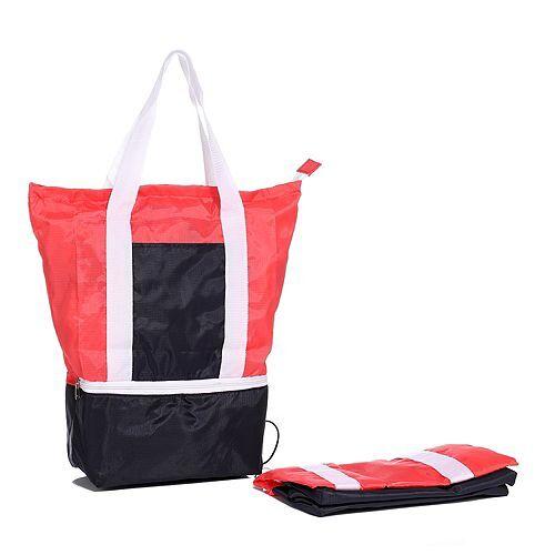 SHOP IT Einkaufstaschen mit Isolierfach zusammenfaltbar 2tlg.