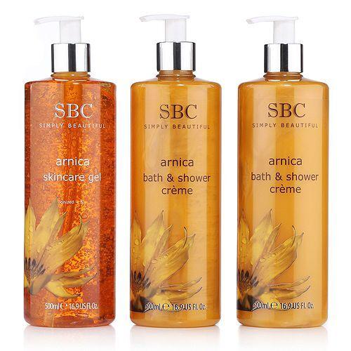 SBC Arnika-Trio Skincare Gel 500ml & Duschcreme 2x 500ml