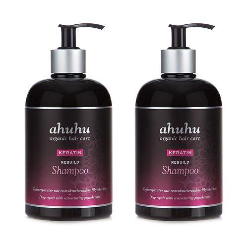 ahuhu organic hair care Keratin Rebuild Shampoo 2x 500ml