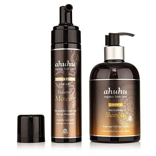 ahuhu organic hair care Coffein Shampoo 500ml Pop Up! Volume Mousse 200ml