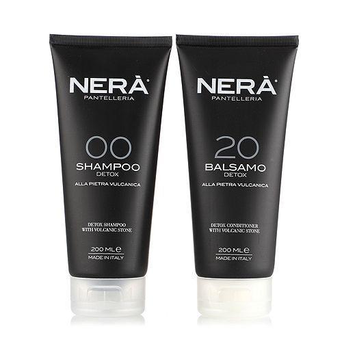 NERÀ Shampoo 200ml & Spülung 200ml tief reinigend mit Vulkangestein