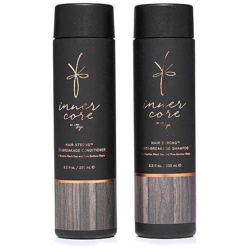 TAYA HAIRCARE Schwarze Tonerde Anti-Haarbruch Shampoo & Conditioner je 250ml