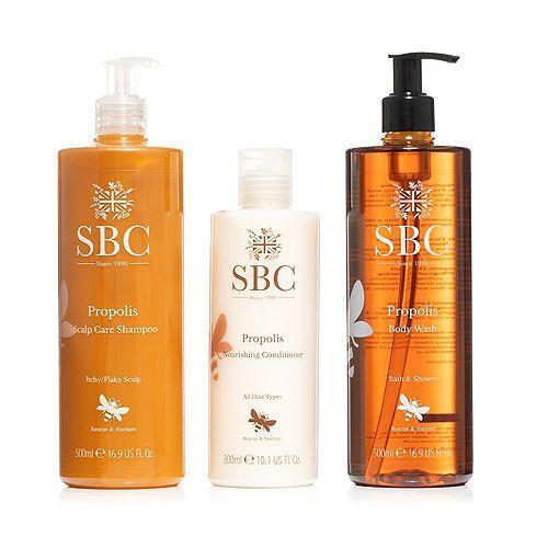 SBC Propolis Bodycare Kit Shampoo 500ml, Spülung 300ml & Body Wash 500ml