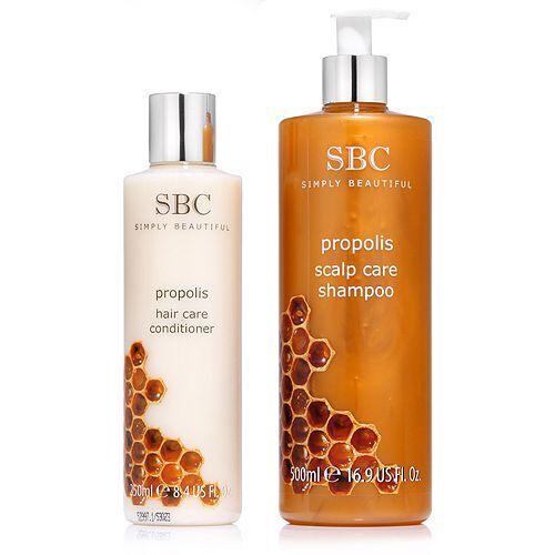 SBC Propolis Haarpflege-Set Shampoo 500ml & Spülung 250ml