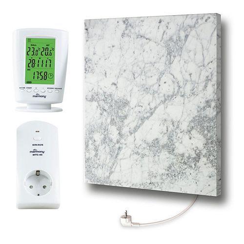 MARMONY Infrarot-Heizung Carrara C480 für Räume bis 18m² inkl. Thermostat C480