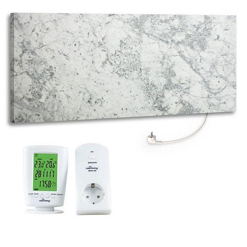 MARMONY Infrarot-Heizung Carrara C780 für Räume bis 25m² inkl. Thermostat C780
