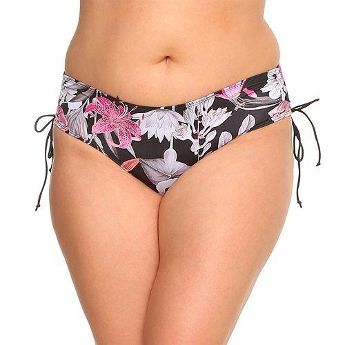 SUGARSHAPE Bikinihose Panty Lilly seitliche Bindebänder Raffungen