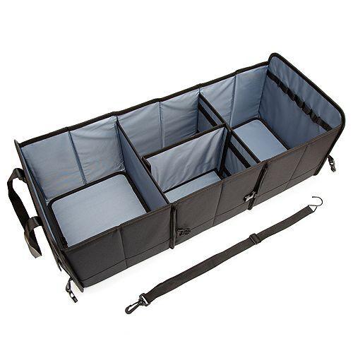 Kofferraum Organizer zusammenfaltbar 3 Fächer Gurtverschlüsse ca. 76x32x28cm