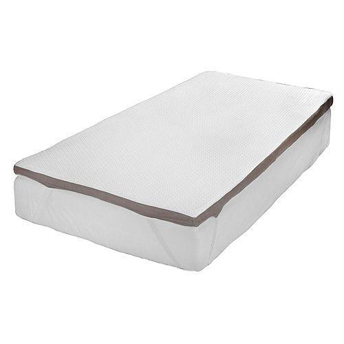 BODYFLEX wendbarer Duotopper Smart- & Memoryschaum Klimaband Höhe ca. 6cm