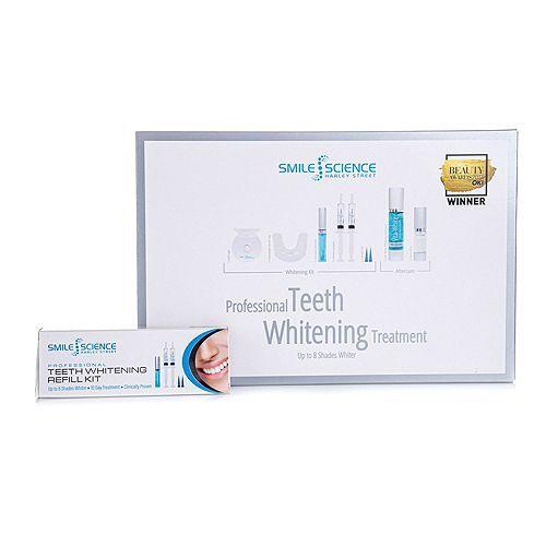 SMILE SCIENCE Zahnaufhellungs-Set mit LED-Schiene & 4x 15ml Gel & Zahnpasta Vor- & Nachbehandlung