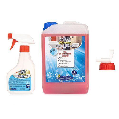 AQUA CLEAN PUR Extreme gegen Kalk Rost & Urinstein entfettende Wirkung 3l