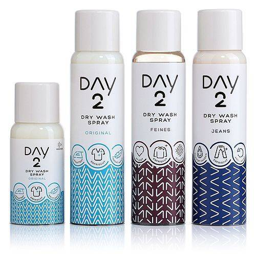 UNILEVER Day 2 Trocken-Wäschespray für Textilien 3x 200ml, 1x 75ml