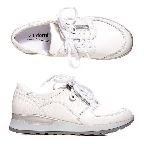 VITAFORM Damen-Sneaker Nappaleder Vitaform Stretch Reißverschluss