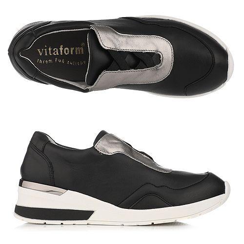 VITAFORM Damen-Sneaker Vitaform Stretch Nappaleder metallic Sohle Nina