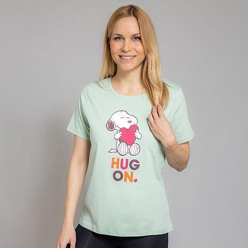 LYLA Homewear Shirt 1/2-Arm Rundhalsausschnitt Snoopy-Druck
