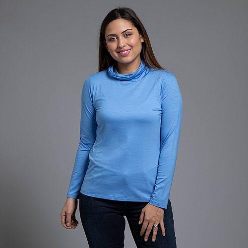 STRANDFEIN Shirt 1/1- Arm Rollkragen uni