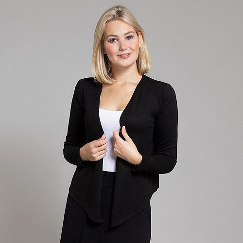 KIM & CO. Cardigan Soft Touch Jersey offene Front asymmetrisch