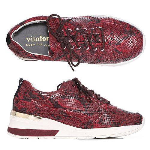 VITAFORM Damen-Sneaker Vitaform Stretch Schlangenmuster Keilsneakersohle