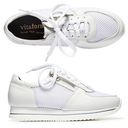 VITAFORM Damen-Sneaker Softnappa Mesh Sneakersohle