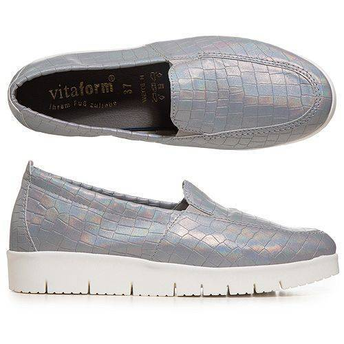 VITAFORM Damen-Slipper Vitaform Stretch Metallik Optik Sohle ''Amelie''