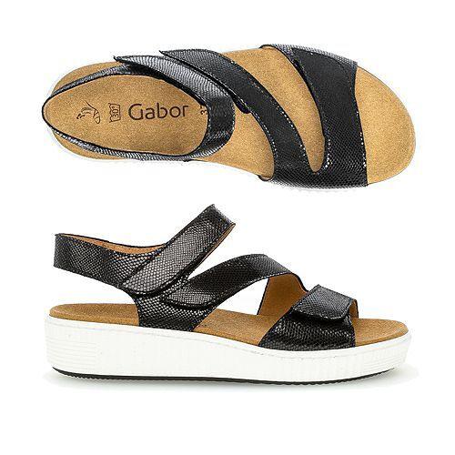 Gabor Sandalette echt Leder einstellbar Wechselfußbett
