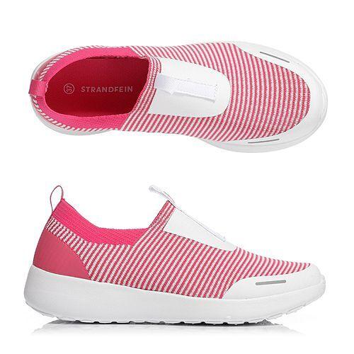STRANDFEIN Damen-Sneaker Textil Slip-In Logodetails