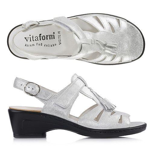 VITAFORM Sandalette echt Leder Klettverschluss Absatz ca. 4,5cm