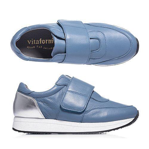 VITAFORM Damen-Sneaker Softnappa Klettverschluss Sneakersohle