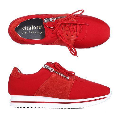 VITAFORM Damen-Sneaker Vitaform Stretch Neoprenoptik Reißverschluss
