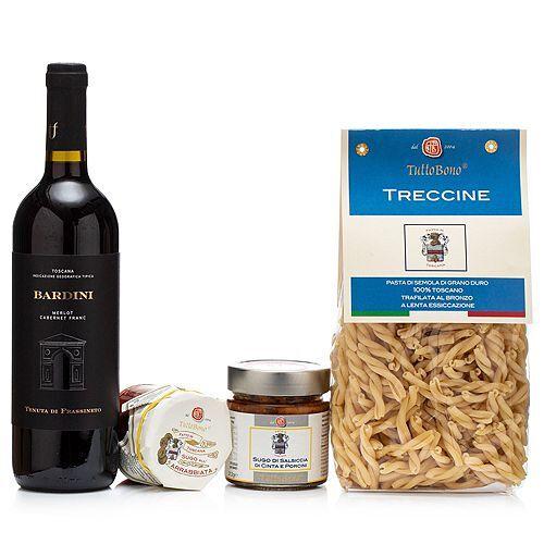 TUTTOBONO Toskanische Grüße Pasta, Sugo & Wein 4tlg.