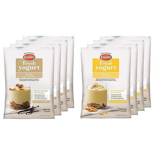 EASIYO Joghurtpulver Vanille & Banane 8 Beutel für 8kg Mix-Set