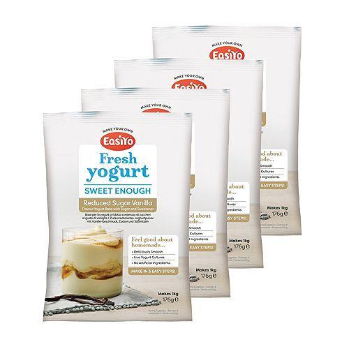 EASIYO Joghurtpulver 4 Beutel für 4kg zuckerreduzierten Joghurt