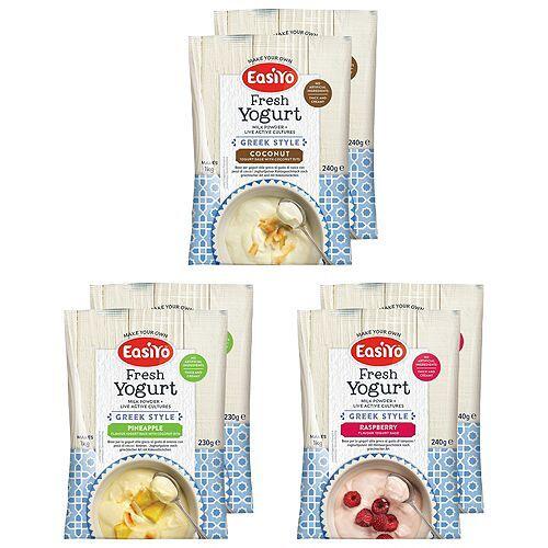 EASIYO Joghurtpulver 6 Beutel für 6kg Joghurt Beere & Kokos