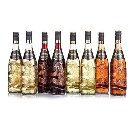 AFFENTALER WEIN Affenflaschen 8 Flaschen Jahrgang 2019