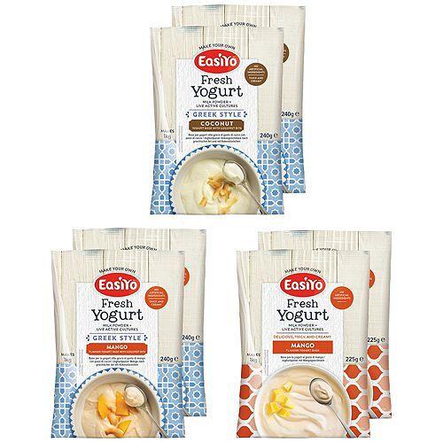 EASIYO Joghurtpulver 6 Beutel für 6kg Joghurt Mango & Kokos