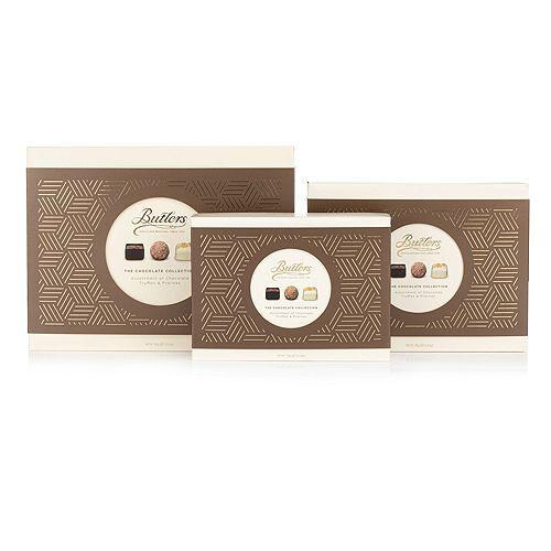 BUTLERS CHOCOLATE Pralinen Kollektion 3 Packungen in 3 Größen Inhalt 585g
