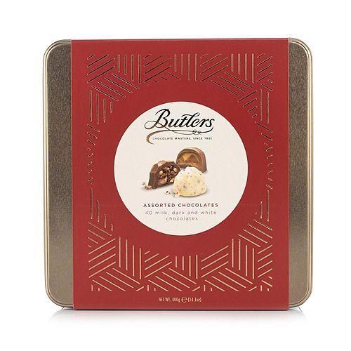BUTLERS CHOCOLATE Pralinenmischung in Geschenkdose 40 Pralinen, 6 Sorten Inhalt 400g