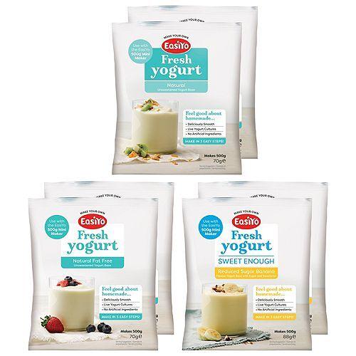 EASIYO Joghurtpulver 6 Beutel für 3kg Joghurt Leichter-Mix