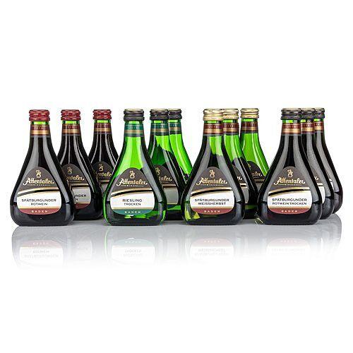 AFFENTALER WEIN 12 Mini-Buddel- Flaschen Jahrgang 2019