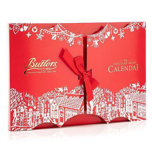BUTLERS CHOCOLATE Adventskalender 24 Pralinen Inhalt 350g