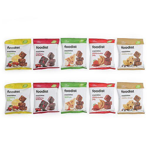 FOODIST Snack Bites 5 Sorten 10 Beutel Inhalt 550g